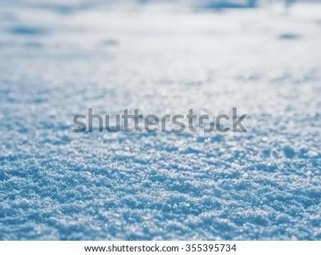 Blue snow background, blue snow texture - stock photo