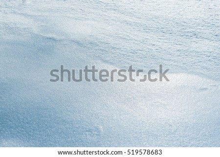 Blue snow texture background