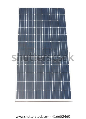 Blue solar panel isolated over white background - stock photo