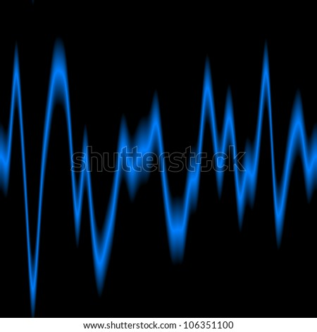 Blue Sound Waves abstract background