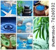 Blue spa collage - stock photo