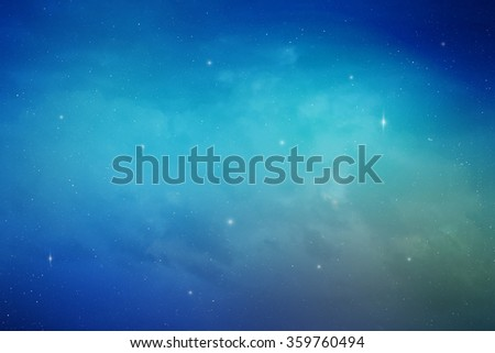 Blue space nebula digital illustration - stock photo