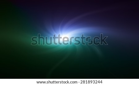 blue space star twirl flare special effect - stock photo