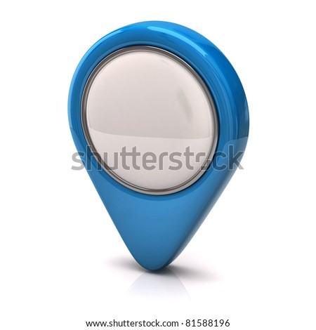 Blue Speech bubble - stock photo