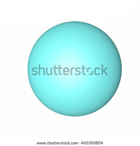 Blue sphere isolated over white, 3d rendering - stock photo