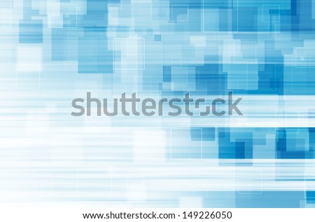 Blue square abstract background. - stock photo