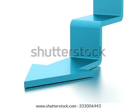 Blue stair arrow business concept rendered