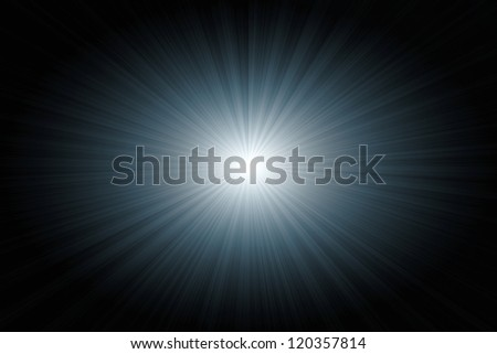 blue starburst with rays for background - stock photo