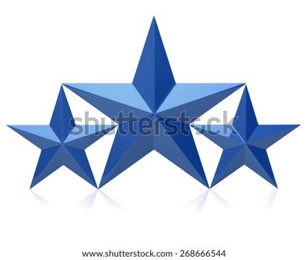 Blue stars of the winners - stock photo