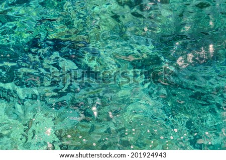 Blue Still Sea Water With Ripple. Natural Background Photo Texture
