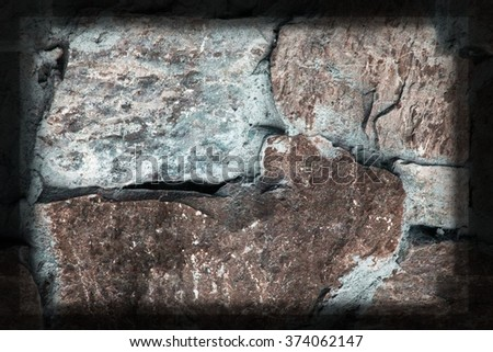 Blue stone grunge background wall dirty texture