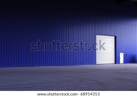 Blue Storage building