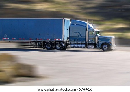 Blue streak - stock photo