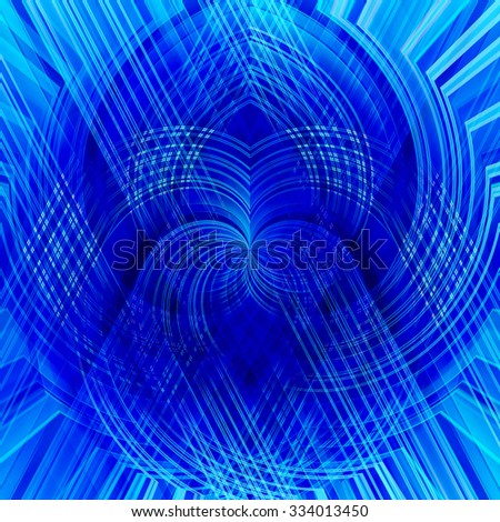 blue stripes on a diagonal, abstract background - stock photo