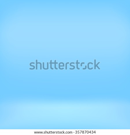 Blue studio room backdrop background. Empty interior mockup with soft light. Mock up template product display. - stock photo