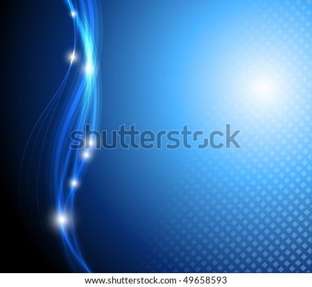 Blue stylish fantasy background