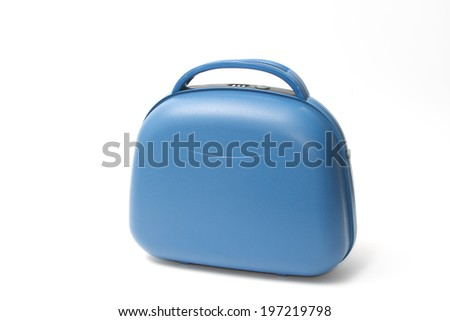 Blue Suitcase - stock photo