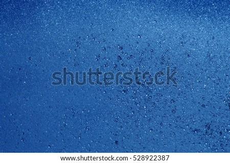 blue summer raindrops falling