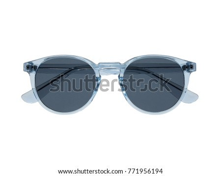 blue sun glasses with black lens