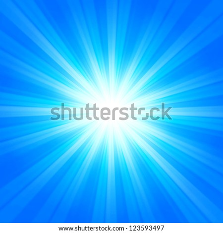 blue sun rays, seasonal winter background