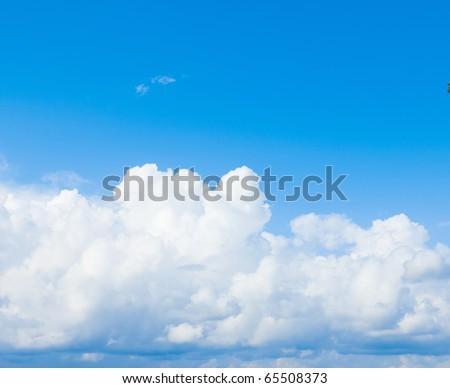 Blue Sunshine Clouds - stock photo