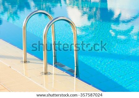 Blue swimming pool - stock photo