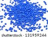 blue synthetic material for plastic industry - stock photo