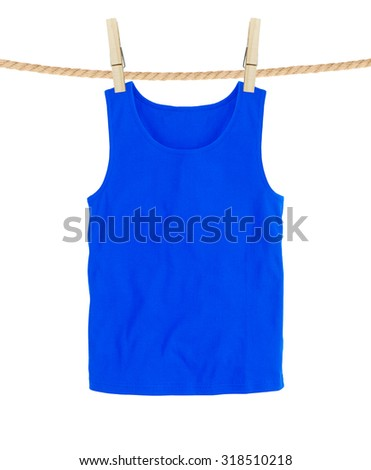Blue t-shirts isolated on white background