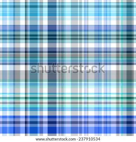 blue Tartan seamless background - stock photo