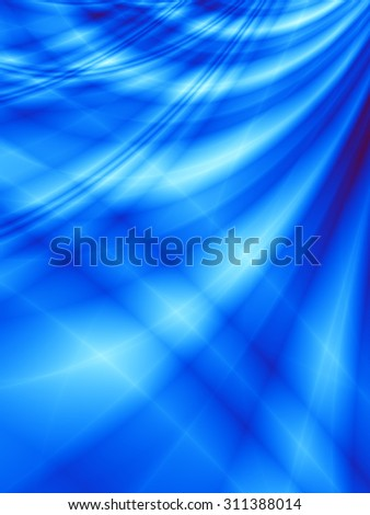 Blue technology curve abstract template web background - stock photo