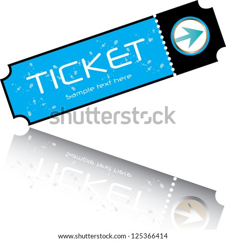 blue ticket - stock photo