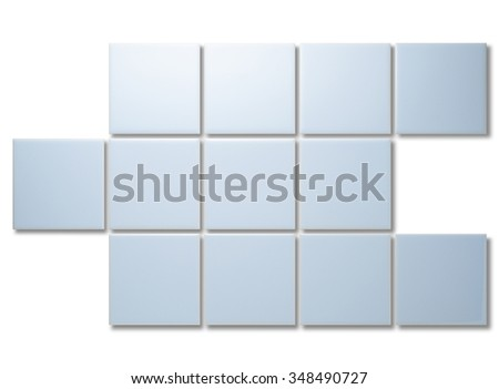 blue tile abstract.