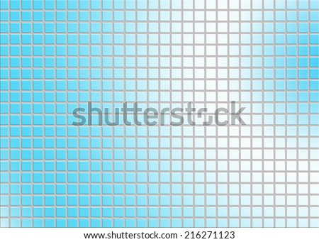 blue tile wall
