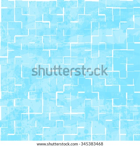 Blue tiles pattern for background.