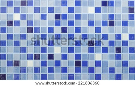 Blue tiles texture with white filling