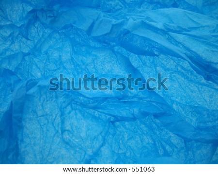 Blue tissuepaper. - stock photo