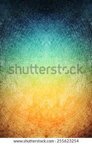 blue to orange gradient grunge abstract background, concrete texture - stock photo
