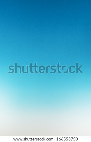 Blue to White Gradient Paper Texture Background - stock photo