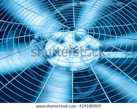 Blue Tone HVAC Heating Ventilation Air Stockfoto (Lizenzfrei ...