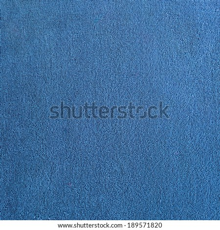 Blue Towel Fabric Texture background - stock photo
