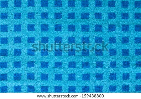 Blue towel pattern background. - stock photo