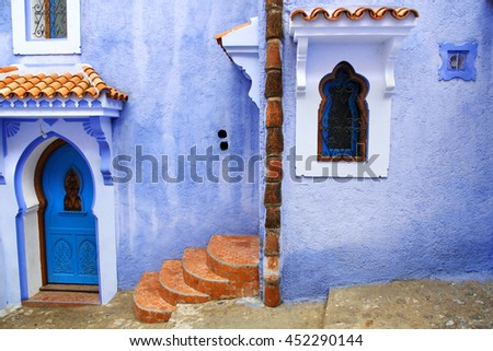 Blue town in Chefchaouen, Morocco.