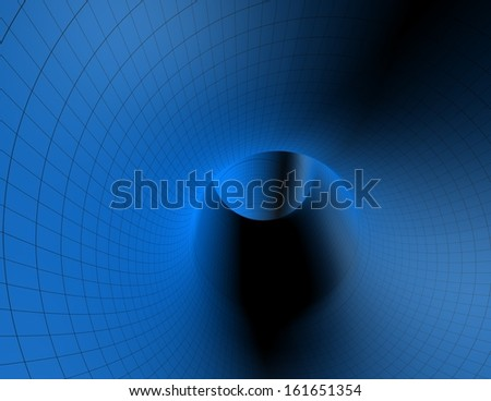 blue tunnel abstract background - stock photo