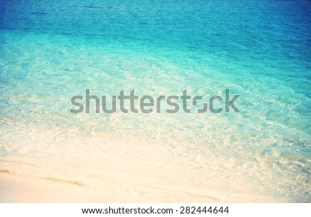 Blue turquois sea water - stock photo