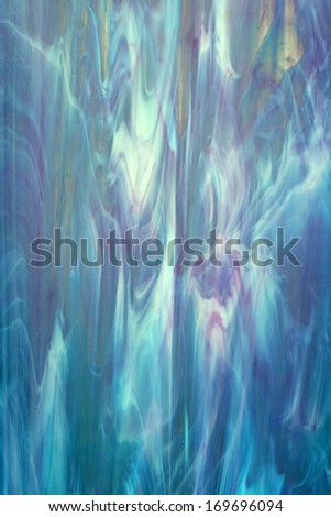 Blue turquoise glass background - stock photo