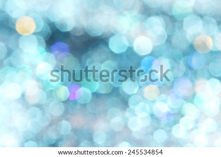 Blue turquoise glitter christmas abstract background - soft colors Defocused abstract blue christmas winter background Soft lights