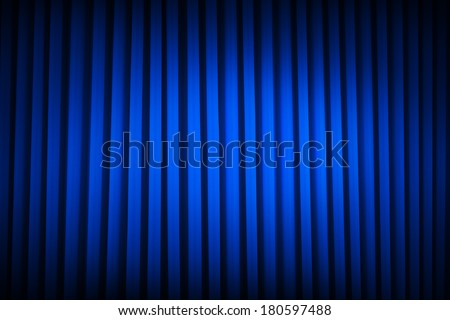 Blue Velvet Movie Curtains Dim Lit Backgrounds. - stock photo