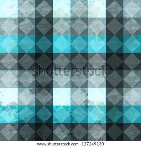 blue vintage rhombus seamless pattern (raster version) - stock photo