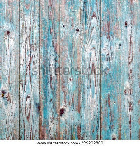 Blue vintage wood texture background - stock photo