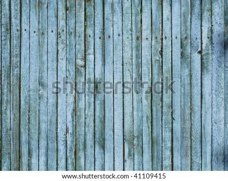 Blue Vintage Wood Wall - stock photo